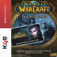 World of Warcraft WoW Gamecard 60 Tage Spielzeit PREPAID 60 DAYS GTC Key Code