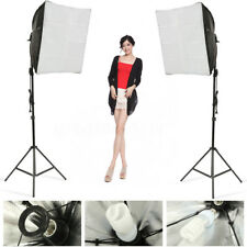 Photo Studio Set Photography Continuous Lighting Kit Softbox +Light Stand+Bulb