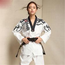 Master Taekwondo Uniforms Dobok Tae Kwon Do Trainer Suit Adult Men Women Cool
