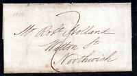 GB QV 1838 Pre Stamp Entire Liverpool to Northwich WS14756