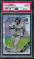 PSA 10 WANDER FRANCO 2019 1st Bowman Chrome REFRACTOR #/499 Rookie RC GEM MINT