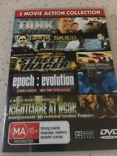 5 MOVIE ACTION COLLECTION - TANK, DARK SKIES + MORE -  2 DIS  DVD - all regions.