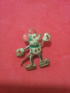 VERY RARE - MICKEY MOUSE 40's Portugese Pin hand painted - LUSO/OSUL - RARE #1