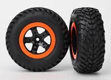 Traxxas Black/Orange SCT Wheels & Tires Nitro Slash 3.3