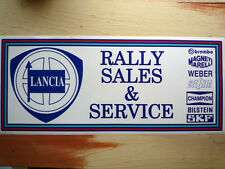 LANCIA SALES & SERVICE large Workshop Garage Sign Sticker