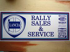 LANCIA SALES & SERVICE large Workshop Garage Sign Sticker
