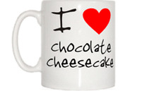 I Love Heart Chocolate Cheesecake Mug