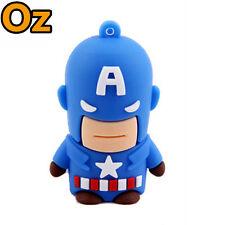 Captain America USB Stick, 16GB 3D Quality Product USB Flash Drives WeirdLand