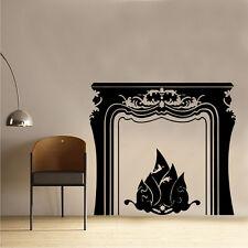 Open Fire Place Vinyl Wall Sticker Art Living dining Room Decor  (SD23)