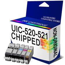 1 Set ink CartridgePGI520 CLI521 CHIPPED for CANON iP4680 iP4700 MP540 MP550
