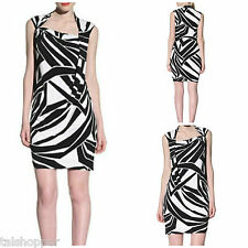 NWT 12 L $158 MUSE Boston Proper Graphic Print Twist Knot Front Sheath Dress