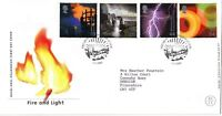 1 FEBRUARY 2000 FIRE AND LIGHT ROYAL MAIL FIRST DAY COVER  EDINBURGH SUNBURST SH