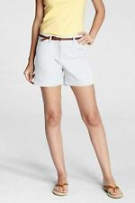 Solid Lands' End Petites 100% Cotton Shorts for Women