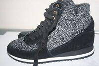 "Isaac Mizrahi Live ""Soho"" Women's Low Wedge Sneakers, Black Size 6.5"