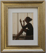 Only The Deepest Red by Jack Vettriano Framed & Mounted Art Print Gold