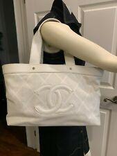 CHANEL CAVIAR SHOPPING TOTE BAG WHITE X LARGE