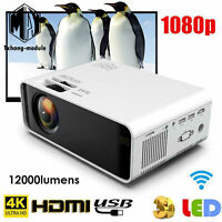 Android HD 4K 3D 1080P LED Projector WIFI Bluetooth Home Theater Cinema 12000LM