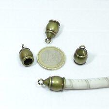 10 Terminales Para Cuero/Cordón 21x11mmT57 Abalorios End Caps Bijouteria Bead