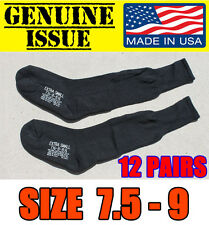 LOT OF 12 GENUINE US MILITARY WOOL COTTON BOOTS SOCKS  ARMY USMC 7 7.5 8 8.5 9