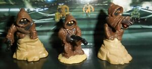 2007 STAR WARS UNLEASHED BATTLE PACKS Lot of 3 different JAWA Figures