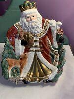 Santa Fitz and Floyd Omnibus 1995 King Wenceslas Santa Claus Tidbit Snack Plate