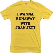 I Wanna Runaway With Joan Jett T-Shirt - 1970's, Retro, Various Cols