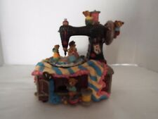 Vtg Musical Bear Motion Sewing Machine Music Box  ( whistle while you work )