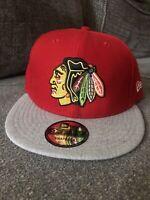 New Era Chicago Blackhawks Red Grey Snapback