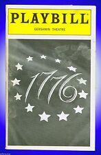 Playbill + 1776 + Linda Emond , Michael Cumpsty , Gregg Edelman , Lauren Ward