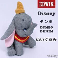 New Edwin×Disney Dumbo Stuffed Toy Denim corduroy from Japan F/S
