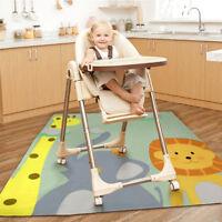 130cm Highchair Baby Splat Floor Mat No-mess Anti Slip Feeding Protector Splash