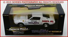 1/18 ERTL AMERICAN MUSCLE THUNDER TASCA FORD 1967 FORD MUSTANG GT WHITE NEW