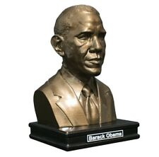 """Barack Obama 8"""" Premium Solid Bust Faces of History FREE SHIP"""