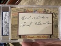 2013 Historic Autographs Spud Chandler Yankees PSA/DNA The Decades 40s #4/12