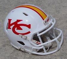 Kansas City Chiefs white concept SPEED football mini helmet