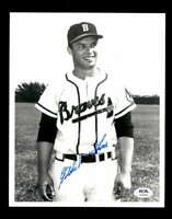 Eddie Mathews PSA DNA Coa Hand Signed 8x10 Photo Autograph
