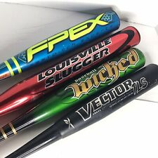 Lot Of 4 Aluminum Baseball Bats 29-30� 17-22oz, Louisville Slugger/Worth/Reebok