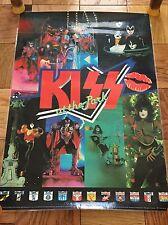 Vintage 1980 KISS At The Park PROMO POSTER Rare Aucoin Australia