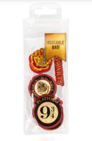 Official Harry Potter Eraser Set with Reusable Bag BRAND NEW