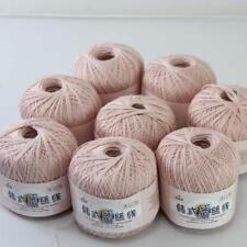 8ballsx50g New Soft Hand Cotton Lace Wool Yarn Crochet Shawl Scarf Knitting 08