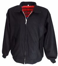 Heavy Duty Black Wool Harrington Jacket`s
