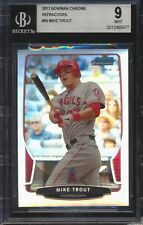 2013 Bowman Chrome 50 Mike Trout Refractor BGS 9 477