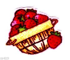 "1.5"" Strawberry shortcake basket mini fabric applique iron on character"