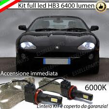 KIT FULL LED HB3 JAGUAR XK8 6000K BIANCO CANBUS 6400 LUMEN NO AVARIA