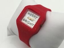 Mixit CHRISTMAS Watch Assorted Analog Girl Wrist Red Watch Merry and Bright