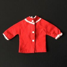 """Sindy Frosty Nights 1965 pyjama top 12S62 red bed night clothes fit 12"""" doll"""