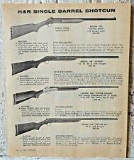 H&R Single Barrel Shotgun 1971 Vintage Print Advertisement Old Gun Ad