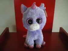 Ty Beanie Boos RAINBOW unicorn 6  inch NWMT. RETIRED AND HARD TO FIND.