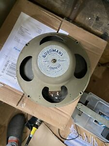 """GOODMANS AUDIOM 60 12"""" ALNICO SPEAKER C1950s - SPARES OR REPAIR"""