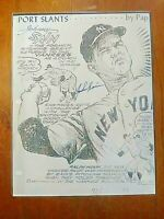Johnny Sain New York Yankees Autograph Signed Photo